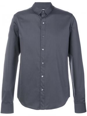 Рубашка с двойным воротником Wooyoungmi. Цвет: серый