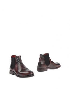 Полусапоги и высокие ботинки PREVENTI. Цвет: красно-коричневый