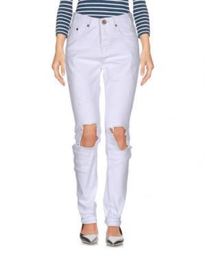 Джинсовые брюки ONE x ONETEASPOON. Цвет: белый