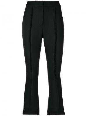 Укороченные брюки  с открытой строчкой Misha Collection. Цвет: чёрный