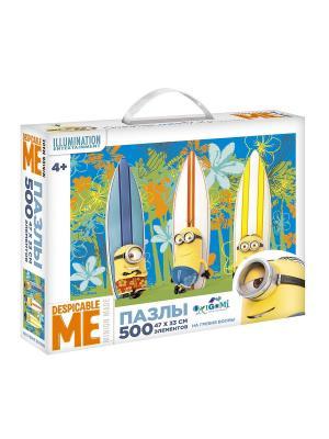 Minions. Пазл 500 элементов На гребне волны в чемоданчике. Minions. Цвет: желтый, белый, синий
