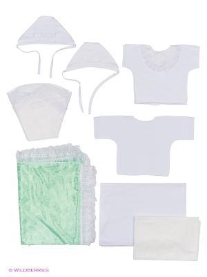 Комплекты на выписку Дитя любви из 8 предметов Бэби Дрим. Цвет: зеленый