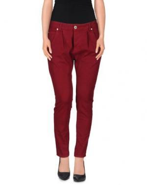 Повседневные брюки QUEEN of LOVE. Цвет: пурпурный