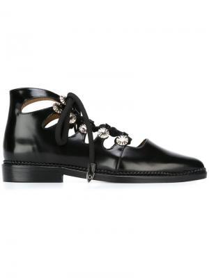 Туфли на шнуровке Toga Pulla. Цвет: чёрный