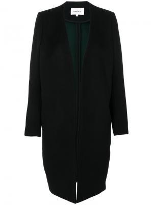 Пальто с глубоким V-образным вырезом Enföld. Цвет: чёрный