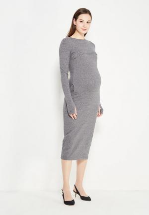 Платье MilkyMama. Цвет: серый