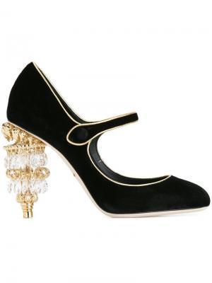 Туфли на каблуке-люстре Dolce & Gabbana. Цвет: чёрный
