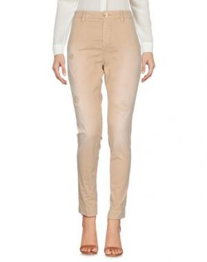 Повседневные брюки AGLINI. Цвет: песочный