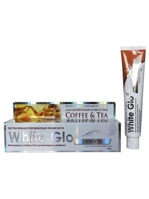 Зубная паста  отбеливающая для любителей кофе и чая White Glo. Цвет: желтый