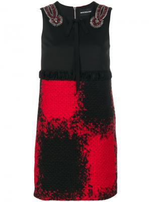 Декорированное платье без рукавов Marco Bologna. Цвет: чёрный