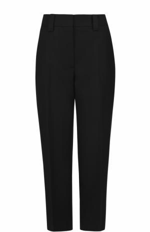 Укороченные шерстяные брюки Acne Studios. Цвет: черный