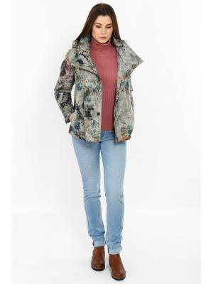 Куртка Finn Flare. Цвет: зеленый, серый