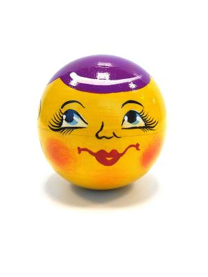 Неваляшка музыкальная - Колобок в фиолетовой кепке Taowa. Цвет: желтый, фиолетовый
