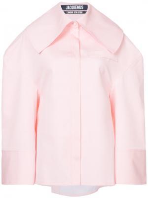 Рубашка La Chemise Carrée Jacquemus. Цвет: розовый и фиолетовый