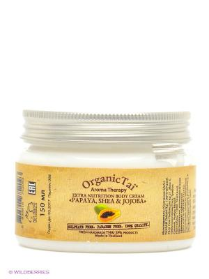 Крем для тела  Папая, ши и жожоба, 150 мл Organic Tai. Цвет: белый