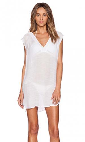 Туника alexa Salt Swimwear. Цвет: белый