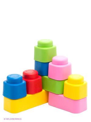 Мягкие кирпичики. Конструктор из мягкого материала для самых маленьких. 9 деталей Десятое королевство. Цвет: белый, розовый, желтый