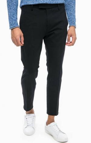 Черные брюки из вискозы Cinque. Цвет: черный