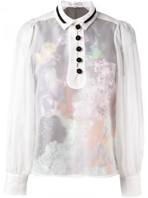Прозрачная блузка Carven. Цвет: белый