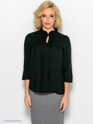 Блузка adL. Цвет: темно-зеленый