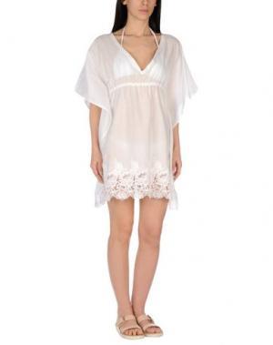 Пляжное платье MISS NAORY. Цвет: белый