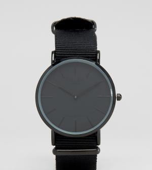 Reclaimed Vintage Часы с черным парусиновым ремешком Inspired эксклюзи. Цвет: черный