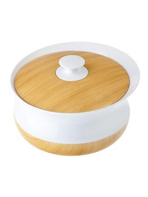 Баночка для ватных дисков VIGAR. Цвет: белый, бежевый