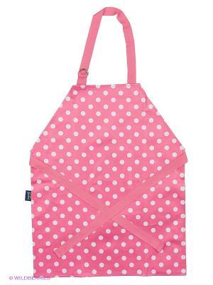 Фартук детский розовый в белый горошек - Фламенко Dexam. Цвет: розовый, белый