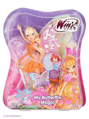 Кукла Winx Club Баттерфликс-2. Двойные крылья Flora. Цвет: желтый, светло-зеленый, розовый
