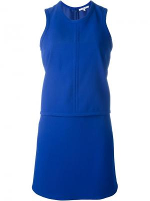 Многослойное платье Carven. Цвет: синий