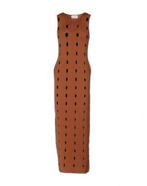 Платье длиной 3/4 VICOLO. Цвет: коричневый