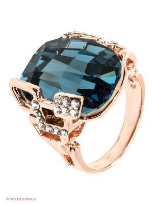 Кольцо Bijoux Land. Цвет: синий, золотистый