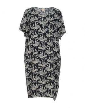 Короткое платье DES PETITS HAUTS. Цвет: темно-синий