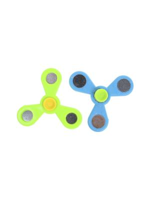 Комплект (Спиннер - 2 шт.) Happy Charms Family. Цвет: голубой, желтый, зеленый