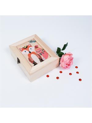 Набор для вышивания. Шкатулка этнолисичка Матренин Посад. Цвет: бежевый, оранжевый, розовый