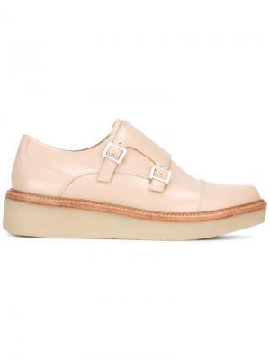 Туфли-монки на платформе DKNY. Цвет: телесный