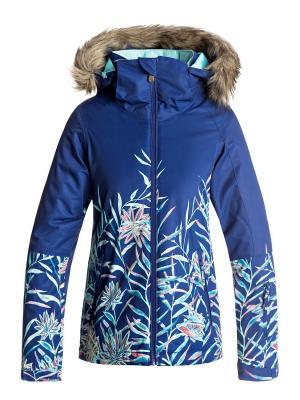 Куртка сноубордическая ROXY. Цвет: синий, бирюзовый, кремовый