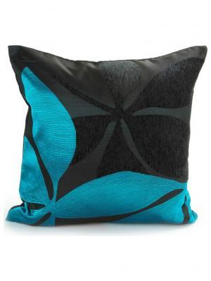 Наволочка 43х43 Nav3/blue Cite Marilou. Цвет: голубой, черный