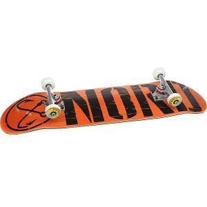 Скейтборд в сборе  Лого Black Orange/Black/Polished Trucks 32.375 x 8.5 (21.6 см) Nord. Цвет: черный,серый,темно-оранжевый