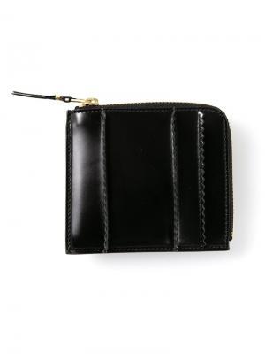 Кошелёк с видными швами Comme Des Garçons Wallet. Цвет: чёрный