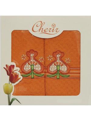 Набор полотенец для кухни - 2шт. (38*64) Dorothy's Нome. Цвет: оранжевый