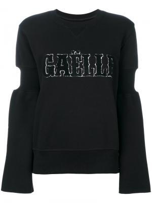 Джемпер с логотипом и длинными рукавами Gaelle Bonheur. Цвет: чёрный