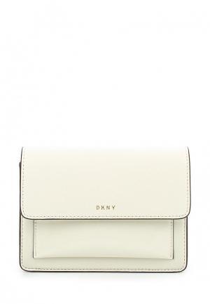 Сумка DKNY. Цвет: бежевый