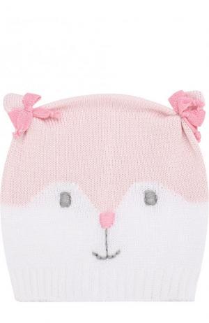 Хлопковая шапка с декором Catya. Цвет: розовый