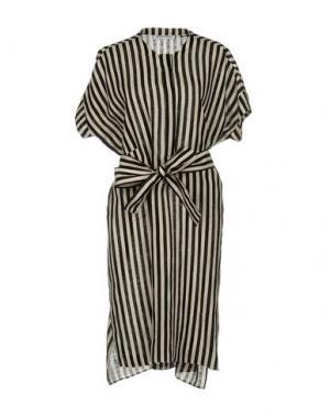 Платье до колена METRADAMO. Цвет: черный