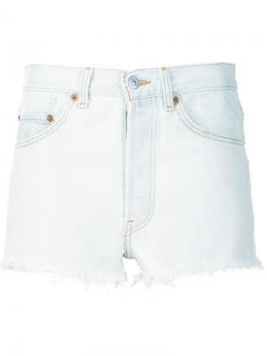 Джинсовые шорты Re/Done. Цвет: белый