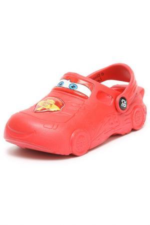 Туфли открытые дошкольные CARS. Цвет: красный