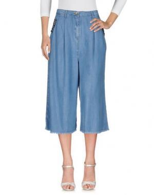 Джинсовые брюки MARIUCCIA. Цвет: синий