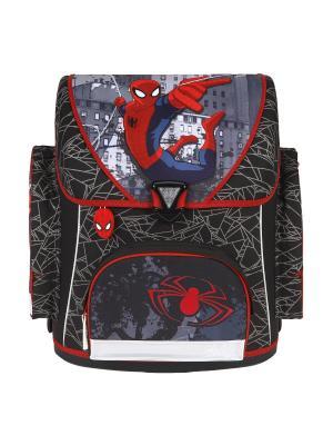 Ранец Spider-Man, 1/3 Scooli. Цвет: красный, серый