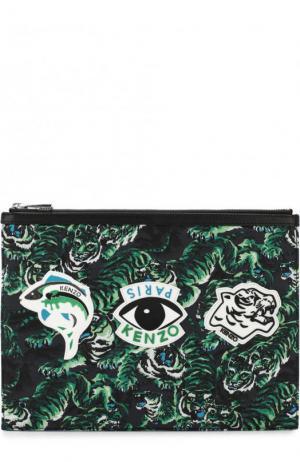 Текстильный футляр для документов Kenzo. Цвет: зеленый